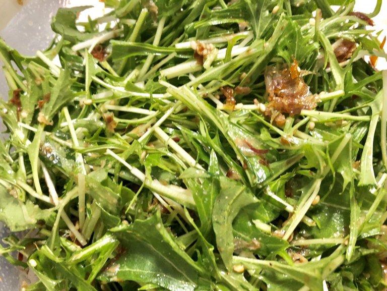 レタスサラダはもう飽きた!美容とダイエットにおすすめ♡「水菜とツナの和風サラダ♡」2