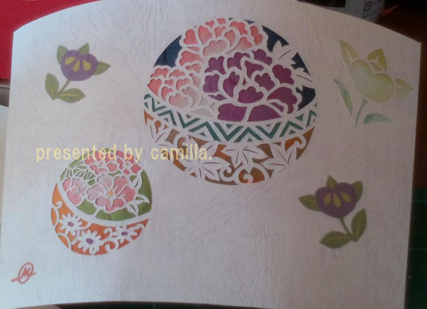 すべての折り紙 三人官女 折り紙 : 鞠に橘と紅葉 : 雛人形の折り紙 ...