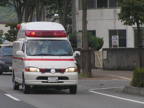 ナンバープレートも119の救急車P8132962