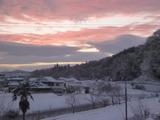 20150102雪の日の朝焼け