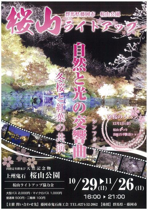 桜山ライトアップが始まる