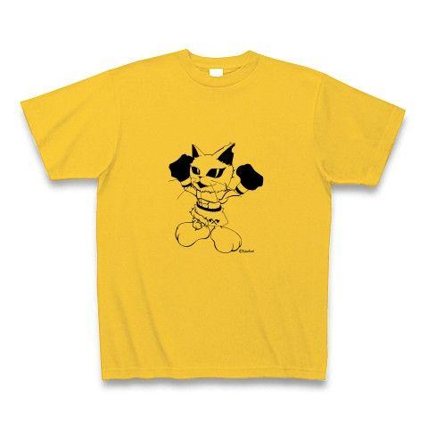 CatBoxer・Tシャツ・ゴールドイエロー