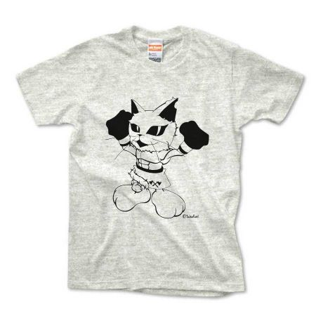 CatBoxerアーサーTシャツ(アッシュ)