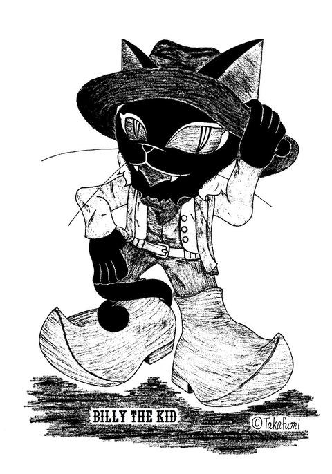 ビリー・ザ・キッド 700x1000 YatsurnoWestern