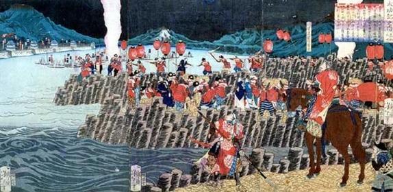 高松城水攻築堤