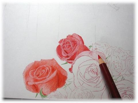 バラ色塗り