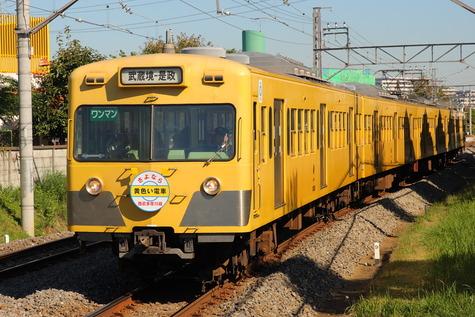 西武多摩川線さよなら101系 (6)