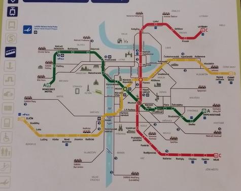 チェコ地下鉄路線図