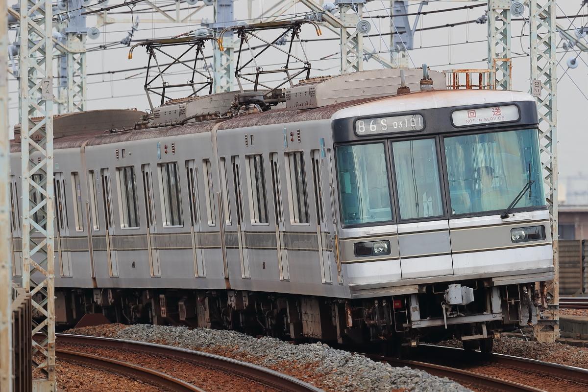 東京メトロ日比谷線03系03-101Fの臨時回送 : 支配人のたららんな日々♪