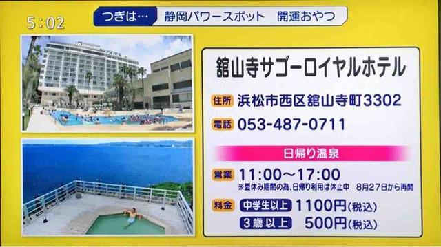 絶景温泉は浜名湖のサゴーロイヤルホテル