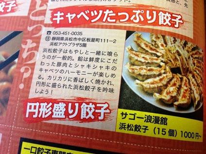 浜松駅近くの浜松餃子で人気の店
