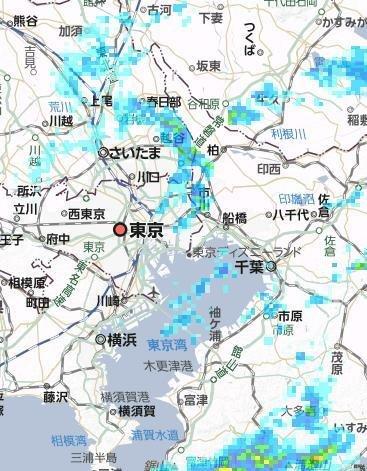 25日の雨