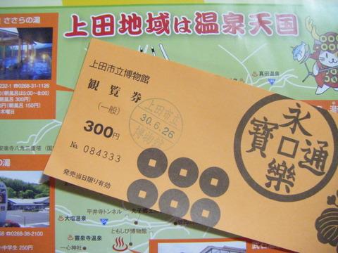 上田市立博物館観覧券 300円