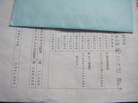令和元年12月末現在の未収金を示す文書