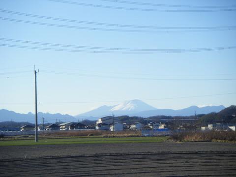 雪をかぶったこの山の名前は? そうです浅間富士と名付けました