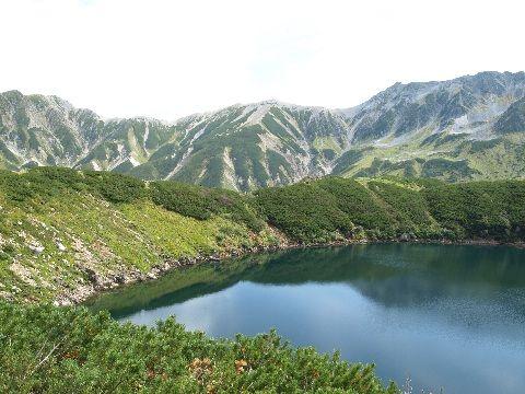 05みくりが池_大汝山、富士ノ折立、真砂岳、別山