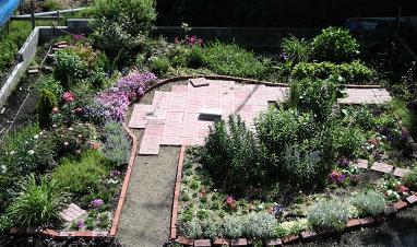 六月の庭全景