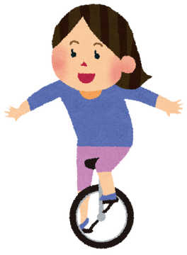 一輪車女子小学生