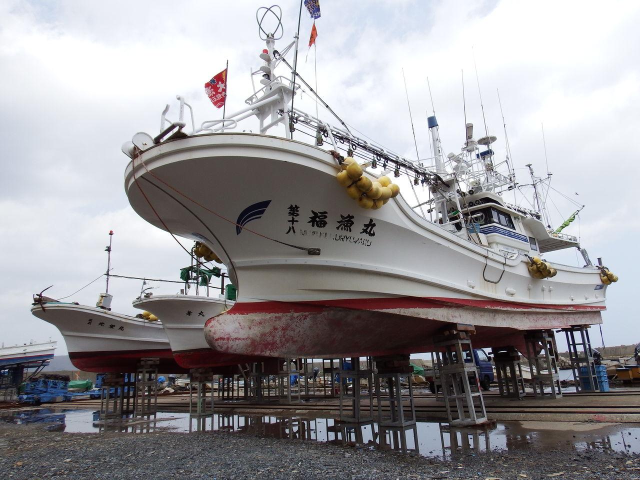 函館発  ぼうけんの旅多くの漁船が陸揚げされていた椴法華漁港コメント