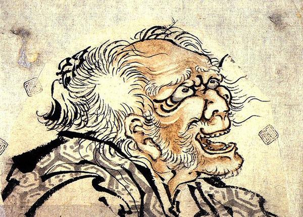 葛飾北斎82才の頃の自画像