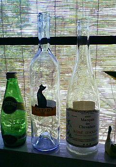 ガラス瓶。