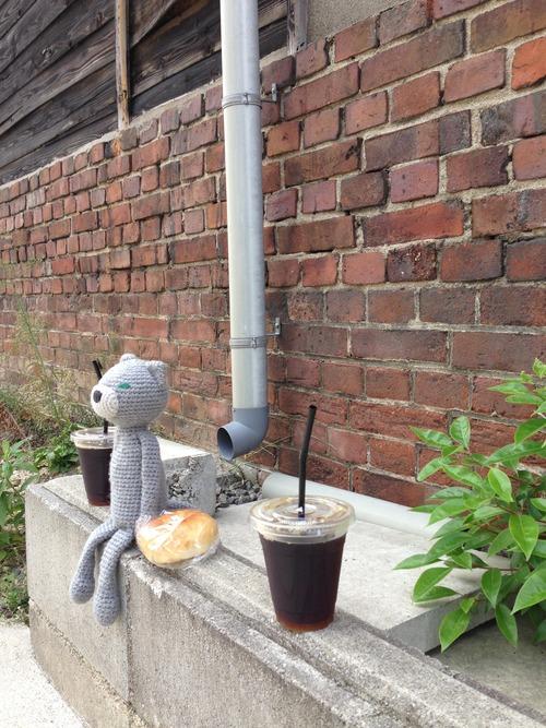 道端カフェ。