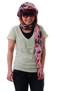 Lucca レディースVネックTシャツ通販激安卸販売
