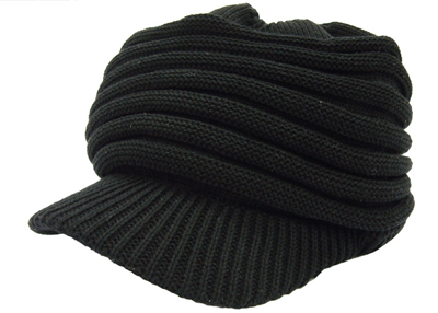 New York Hat ツバ付きニットキャップ