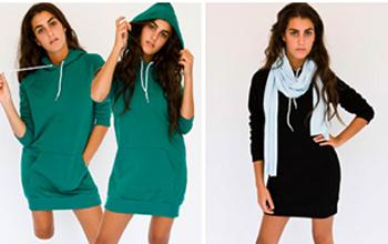 AMERICAN APPAREL カリフォルニアフリースHoodie Dress