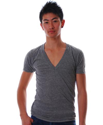 American apparelVネックTシャツ通販