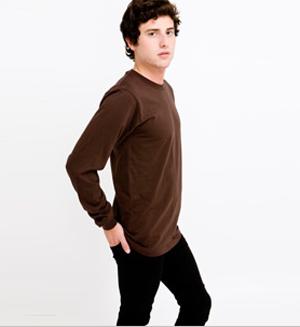 American Apparelファインジャージー ロングスリーブTシャツ
