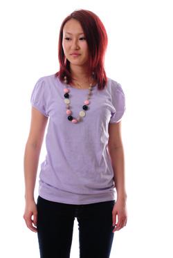 Lucca レディースVネックTシャツ通販激安卸販