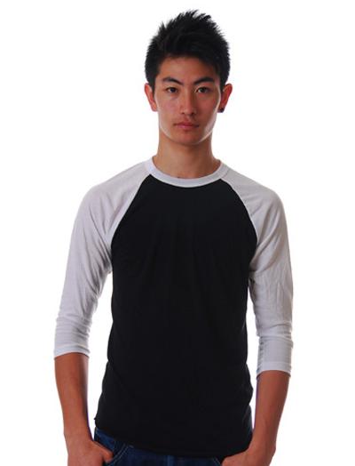 American apparel ベースボールTシャツ通販
