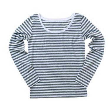 DALUC レディース ボーダー長袖Tシャツ(DL018)