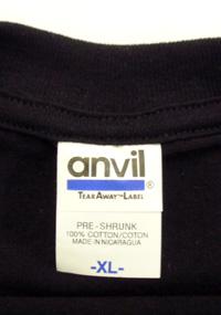 anvil青レベルTシャツ