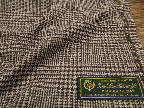 染めていない羊毛、ロロピアーナペコラネラチェックでジャケット/コートを(2018/8/22)