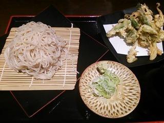 蕎麦(春野菜の天せいろ)