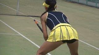 【動画】「かわいすぎるテニスプレーヤー」美濃越舞(みのこしまい)選手