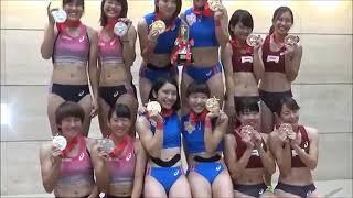 【動画】【女子陸上】日本選手権リレー表彰式 立命館大学の子が可愛いと思う