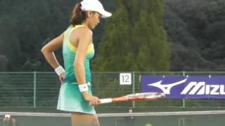 【動画】<女子テニス> 超ローアングルからの撮影で実際の球筋を正確に