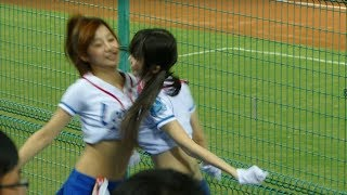 【動画】おっぱいがこすれる応援 チアガールが超絶カワイイッ♥♥️♥台湾プロ野球