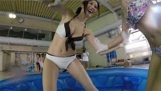 【動画】【放送事故】おっぱいがポロリしちゃうハプニングだらけの水泳大会Part2