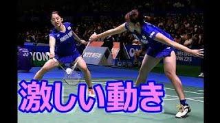 【動画】【ミニスカ】アンダーを見せまくるミニスカウェアが素晴らしい!女子バドミントン日本代表
