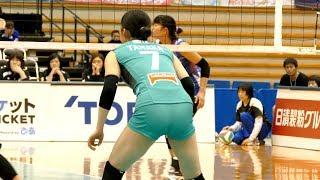 【動画】JT 田中美咲vs PFU バレー ブラ透け パン透け