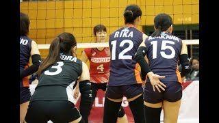 【動画】女子バレー:お尻の上で重要なサイン