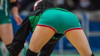 """【動画】【女子バレー】スタイル抜群!美人選手の後ろ姿に浮き出るパン線""""美尻""""まとめ"""