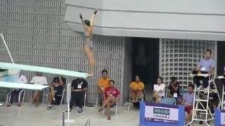 【動画】水泳 飛び込み競技 まさかの落下