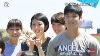 【動画】女子バレーボール日本代表 アメリカ遠征で【 大谷翔平 】と ご対面