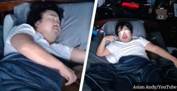 眠ってるだけで大金を手にした男性。睡眠中のライブ映像を配信し、視聴者がお金を払って睡眠妨害させるという手法
