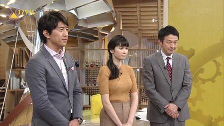 【画像あり】テレビ番組でおっpいを強調した服装を着せられた女性wwwwwwwww